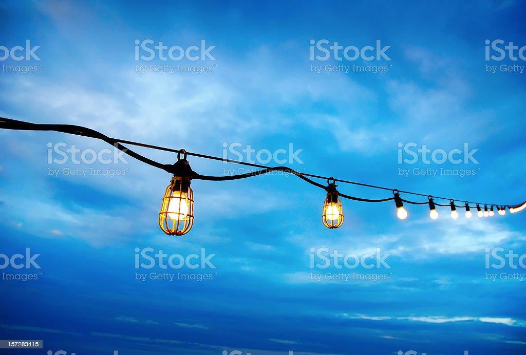 deck lights royalty-free stock photo