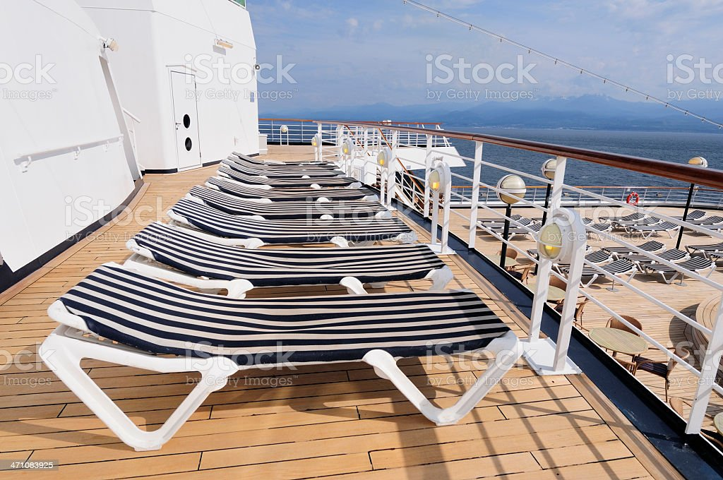 Deck lounge chairs royalty-free stock photo