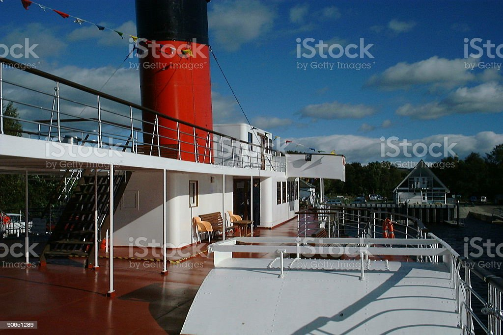 Deck - Maid of the Loch royalty-free stock photo
