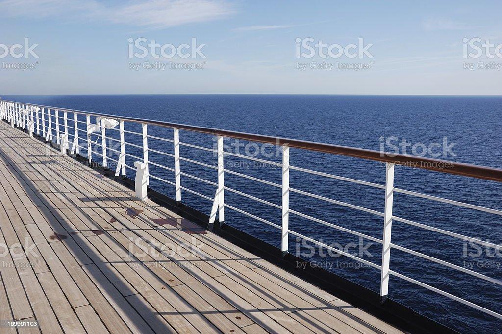 Deck of a Cruise Ship stock photo