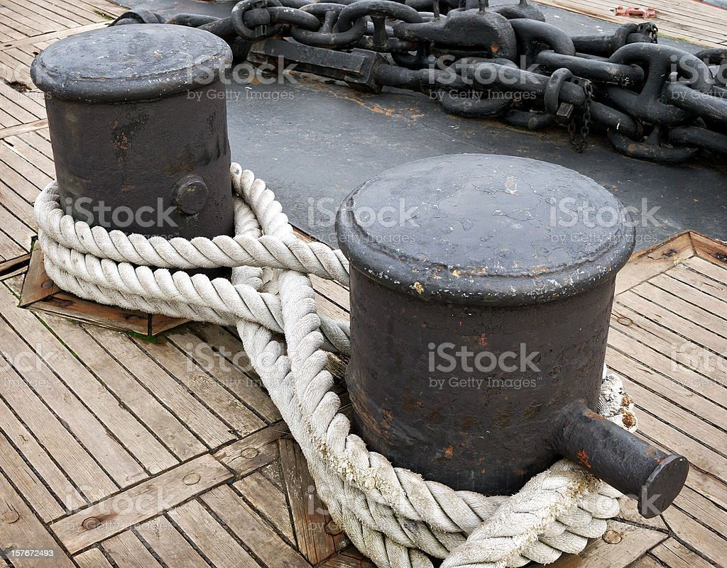 Deck of a ship stock photo