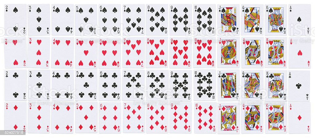 Deck of cards full resolution stock photo