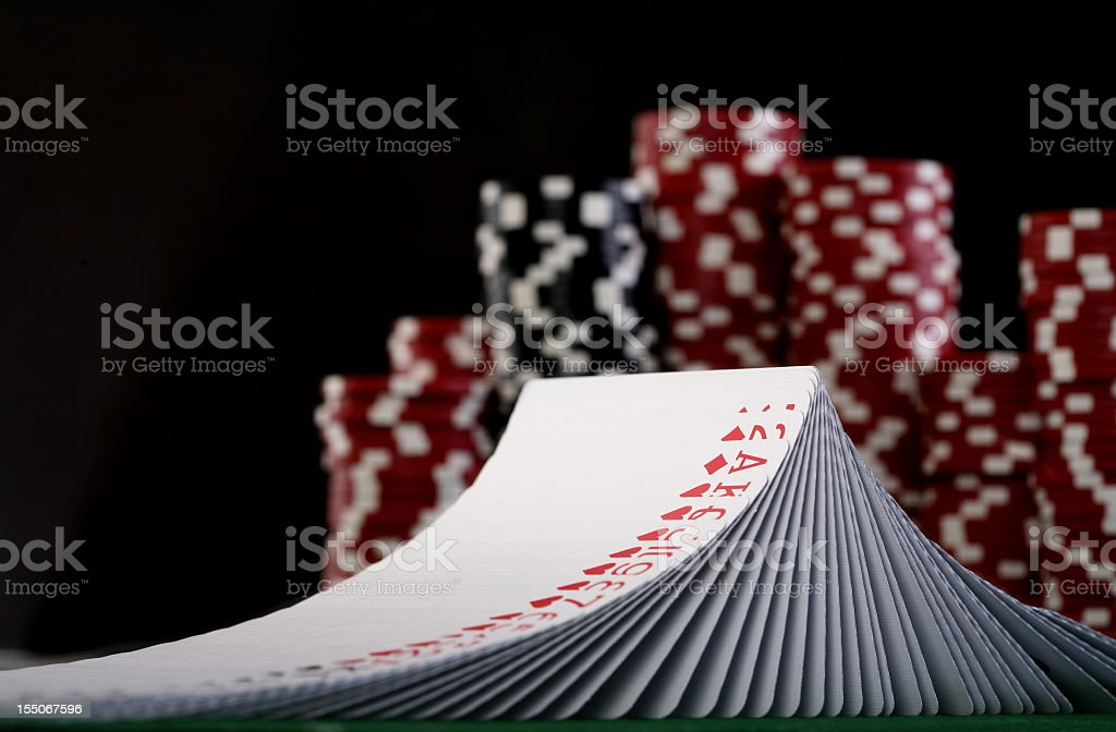 Deck of Poker Cards royalty-free stock photo