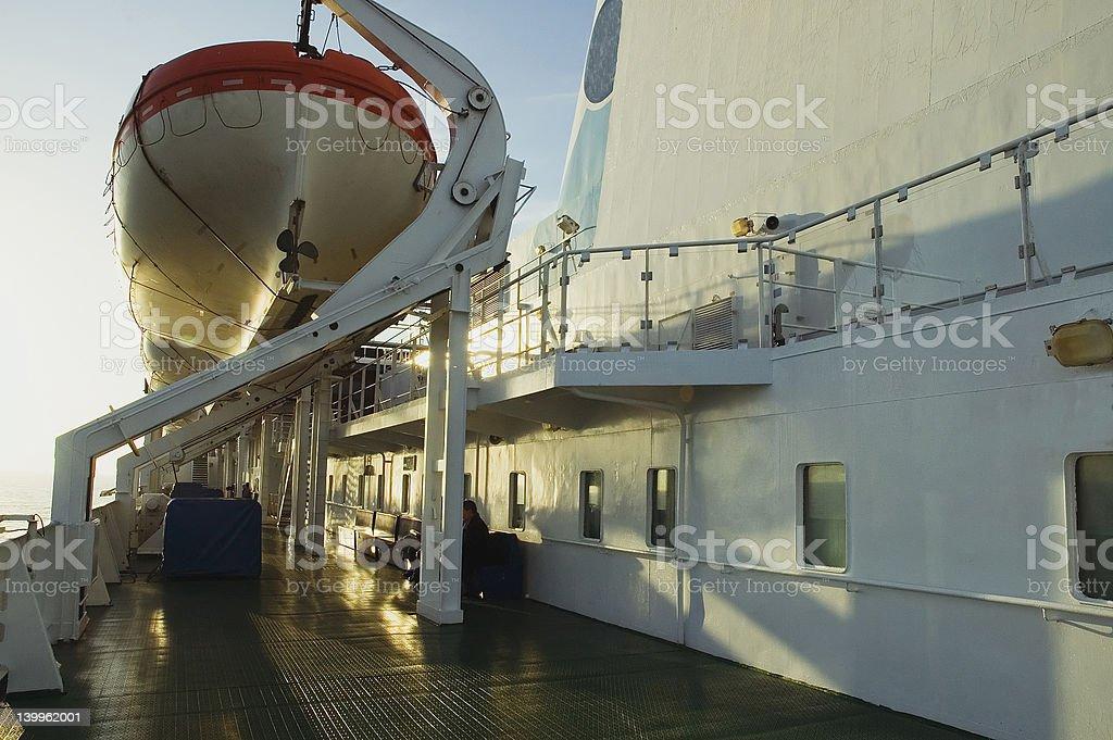 クルーズ船のデッキ ロイヤリティフリーストックフォト