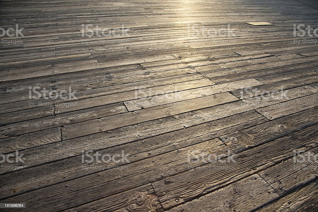 Deck Planks royalty-free stock photo