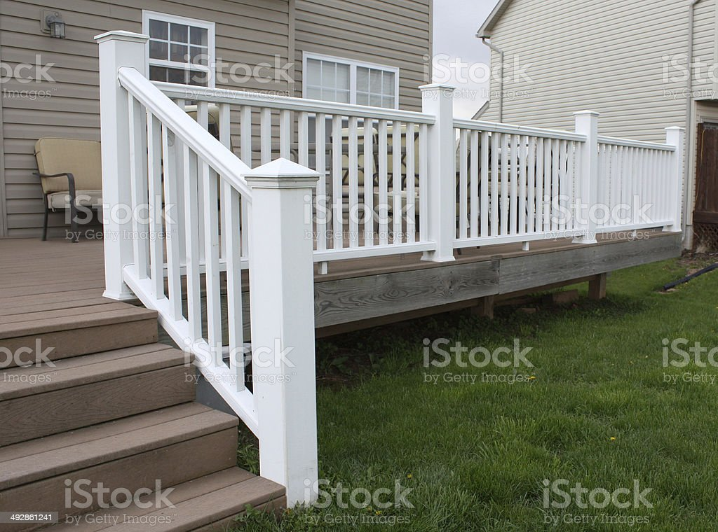 Deck Railing stock photo
