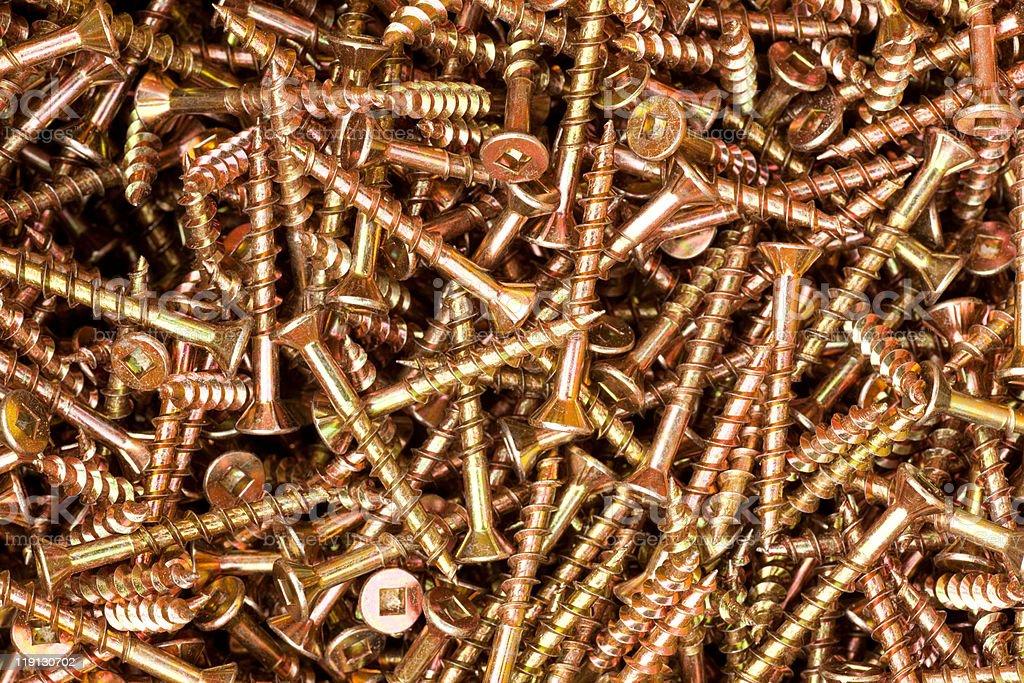 Deck screws background texture royalty-free stock photo