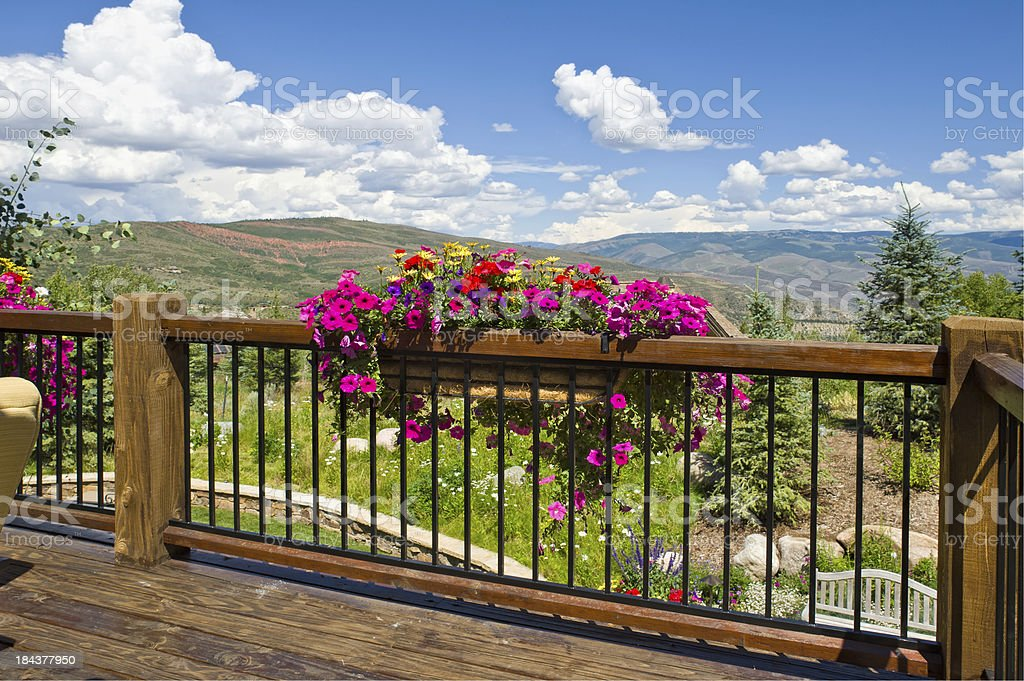 Deck with View in Summer stock photo