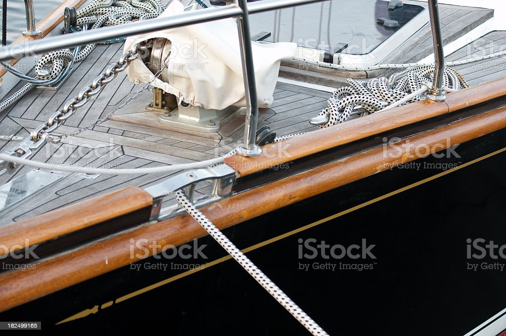 Deck Yacht royalty-free stock photo