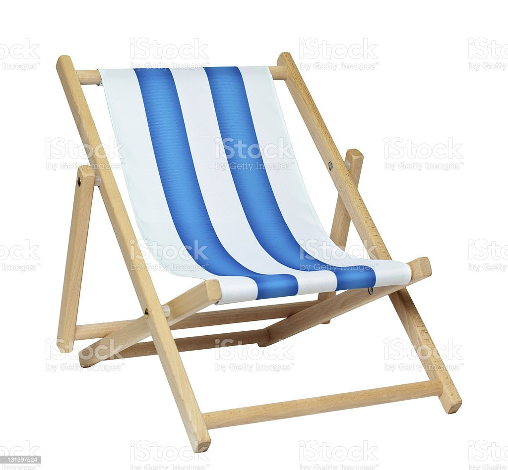 deckchair (with clipping path) royalty-free stock photo