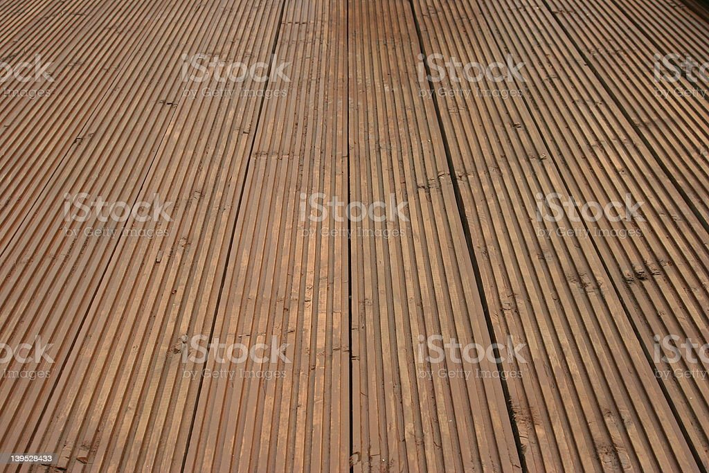 Decking in detail royalty-free stock photo