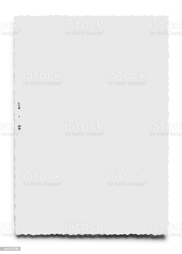 Deckle Edge Photo royalty-free stock photo