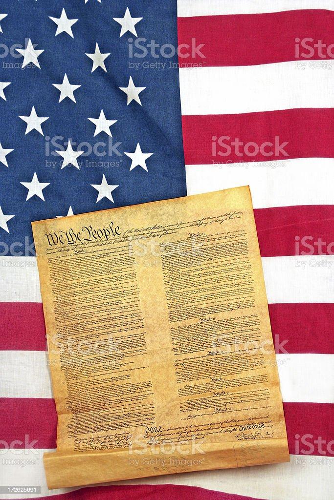 Declaration & Flag royalty-free stock photo