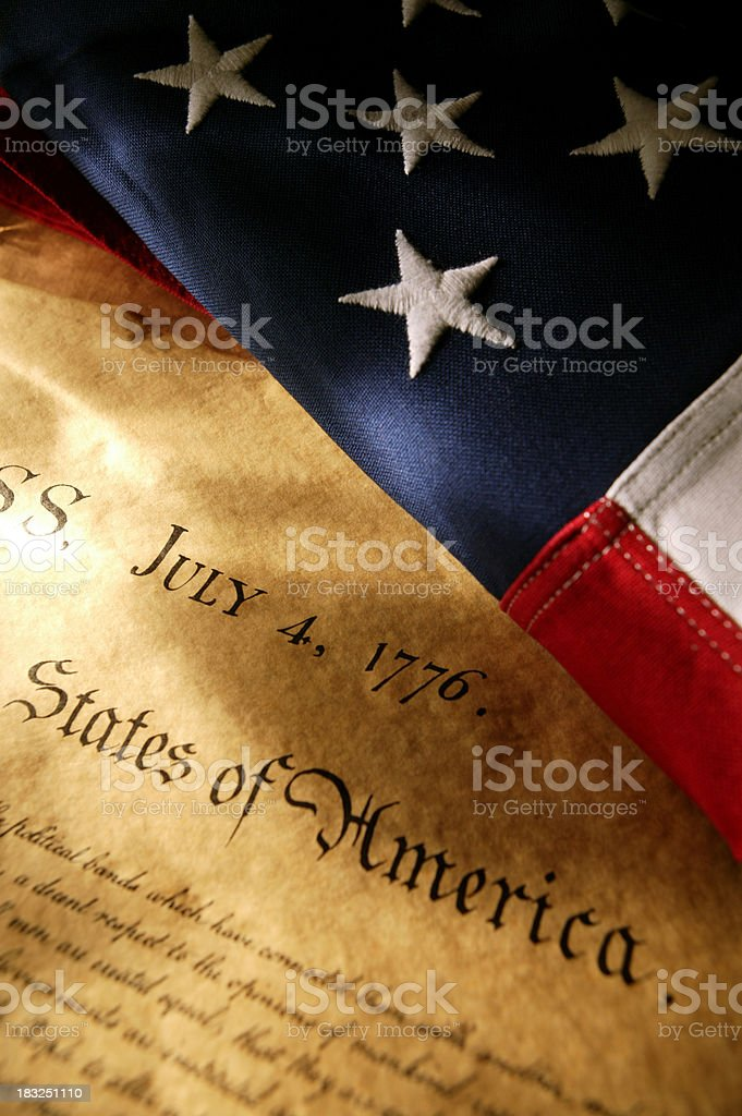 Declaration & Flag stock photo