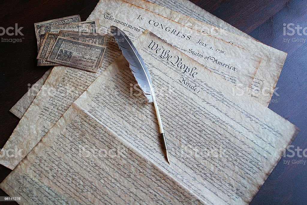 Declaration of Independence 2 royalty-free stock photo