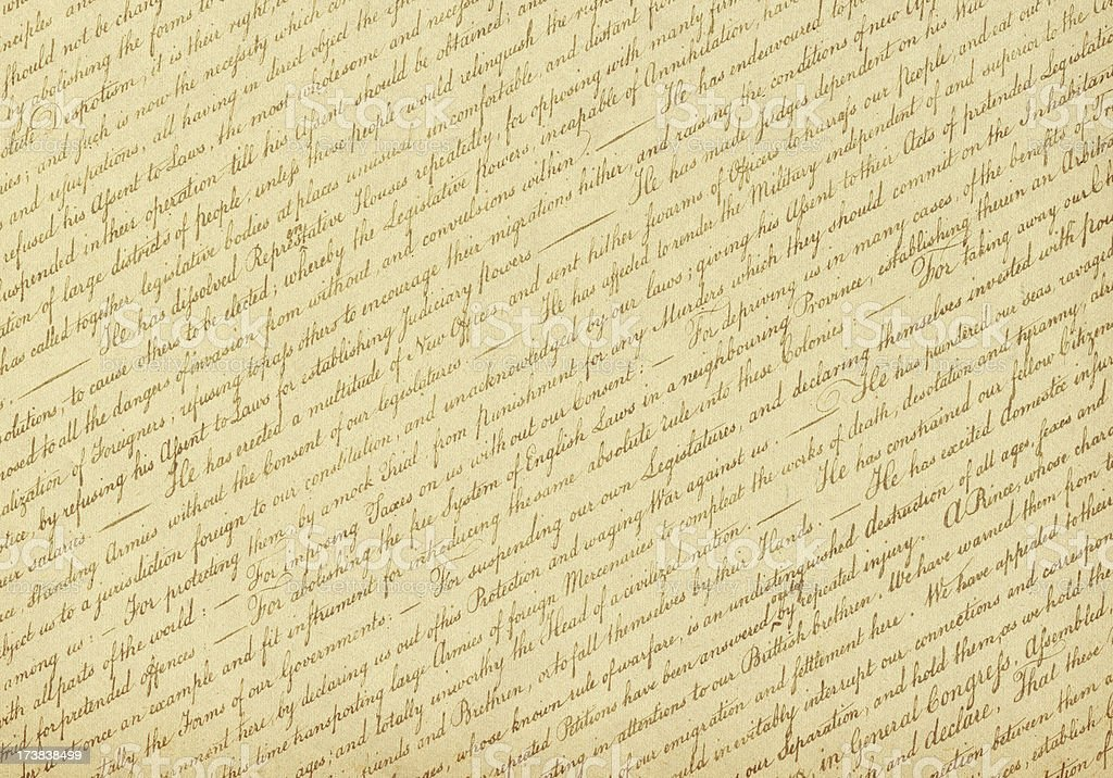 US Declaration of Independence Background (XXXL) stock photo