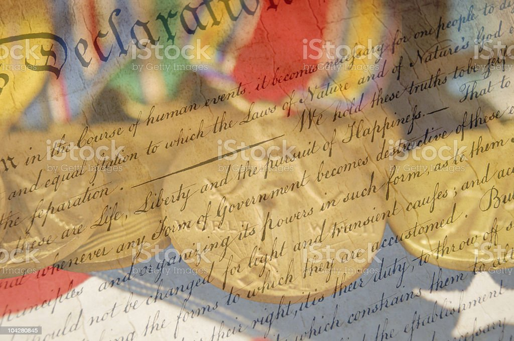 Declaration of Independence Close Up royalty-free stock photo