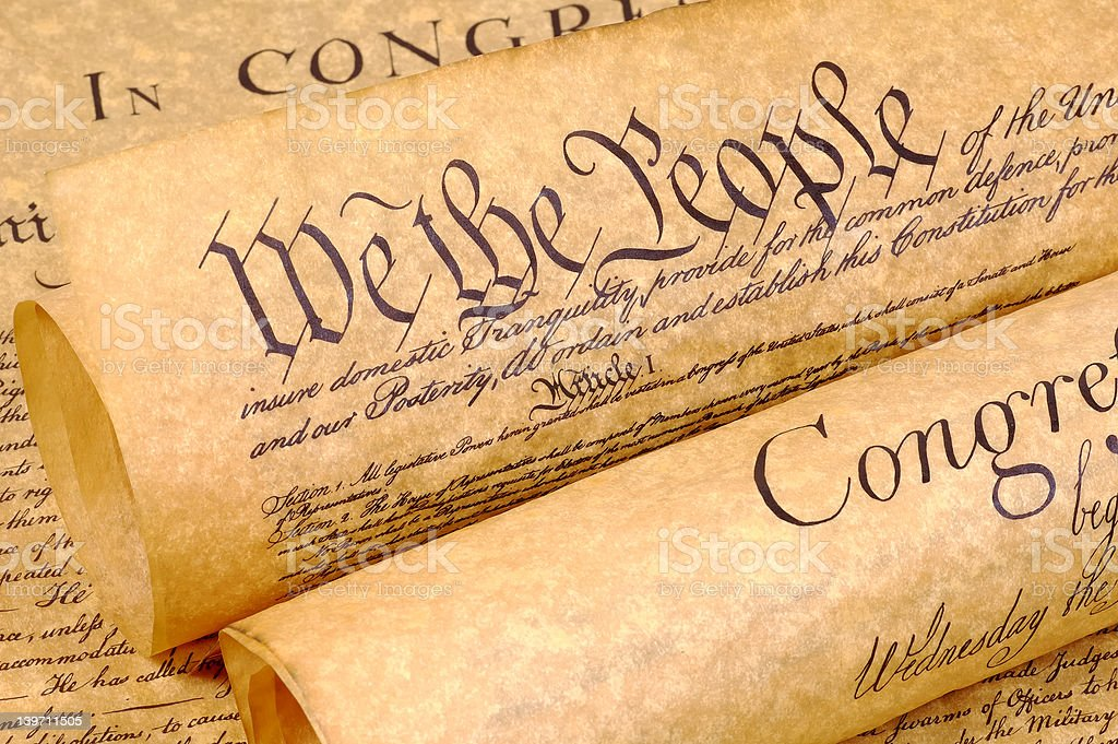 Declaration of Independence royalty-free stock photo