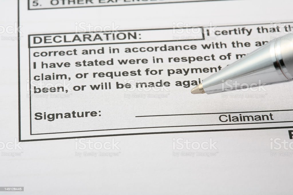 Declaration signiture royalty-free stock photo