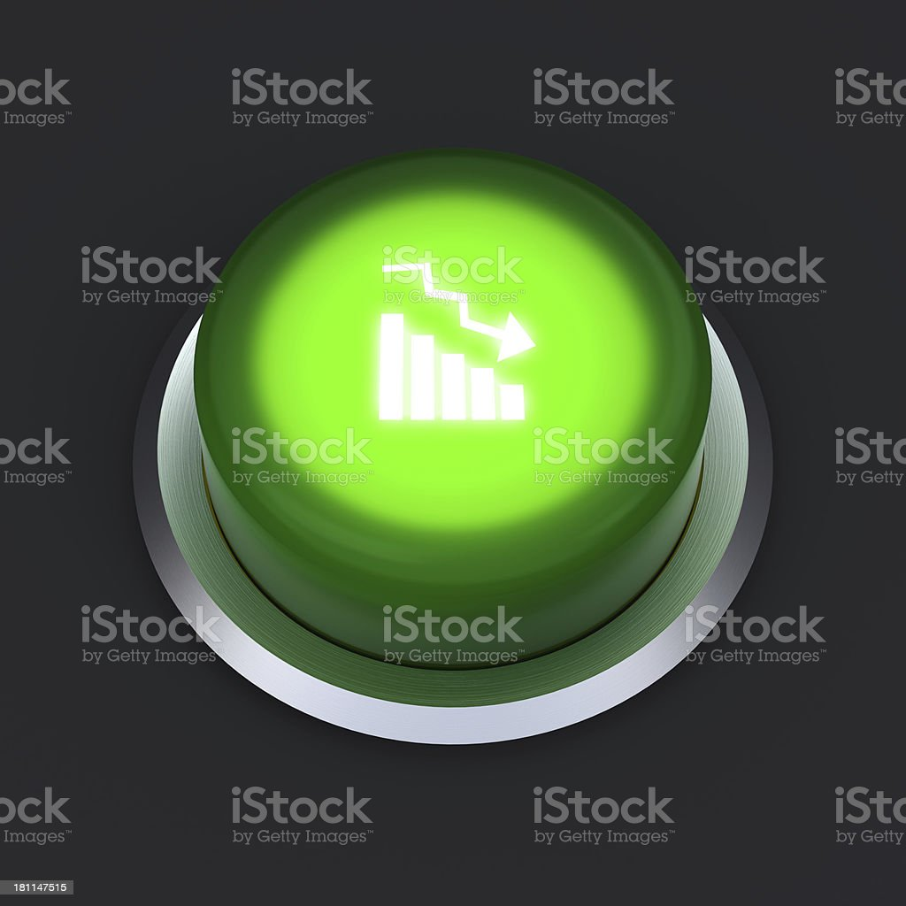 Decline button royalty-free stock photo