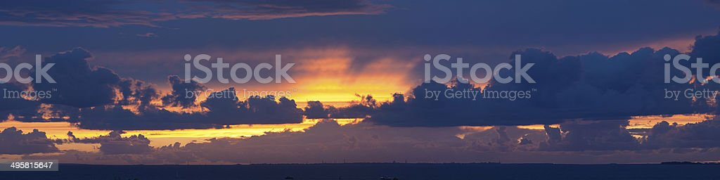 decline over the sea royalty-free stock photo