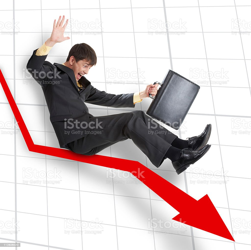 Decline royalty-free stock photo