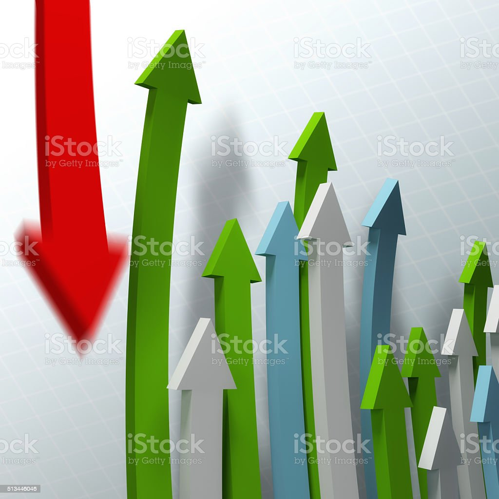 declining graph stock photo