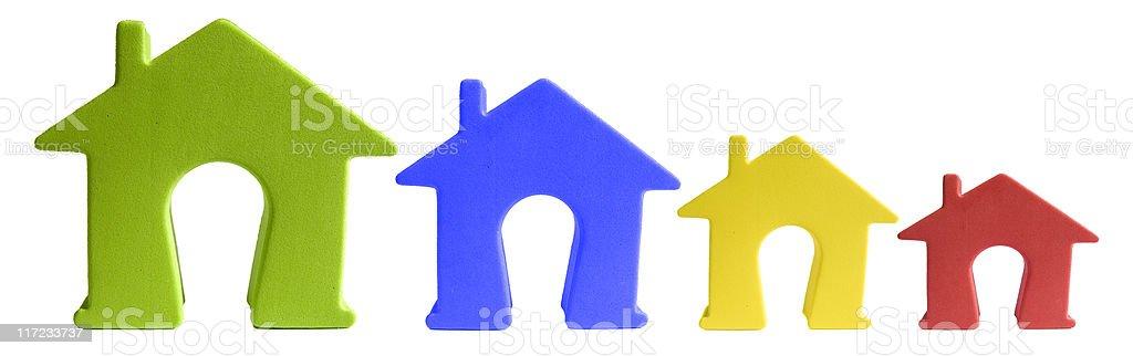 Declining House Market royalty-free stock photo