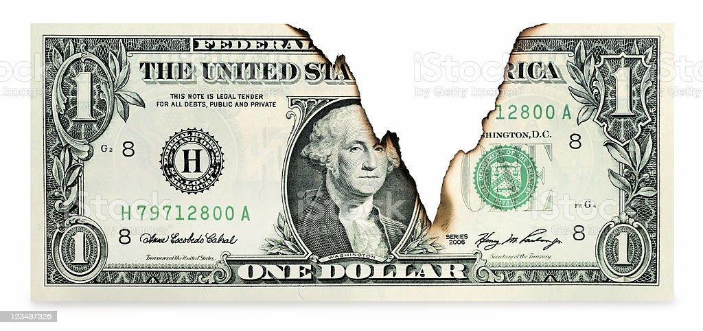 Declining U.S. Dollar stock photo