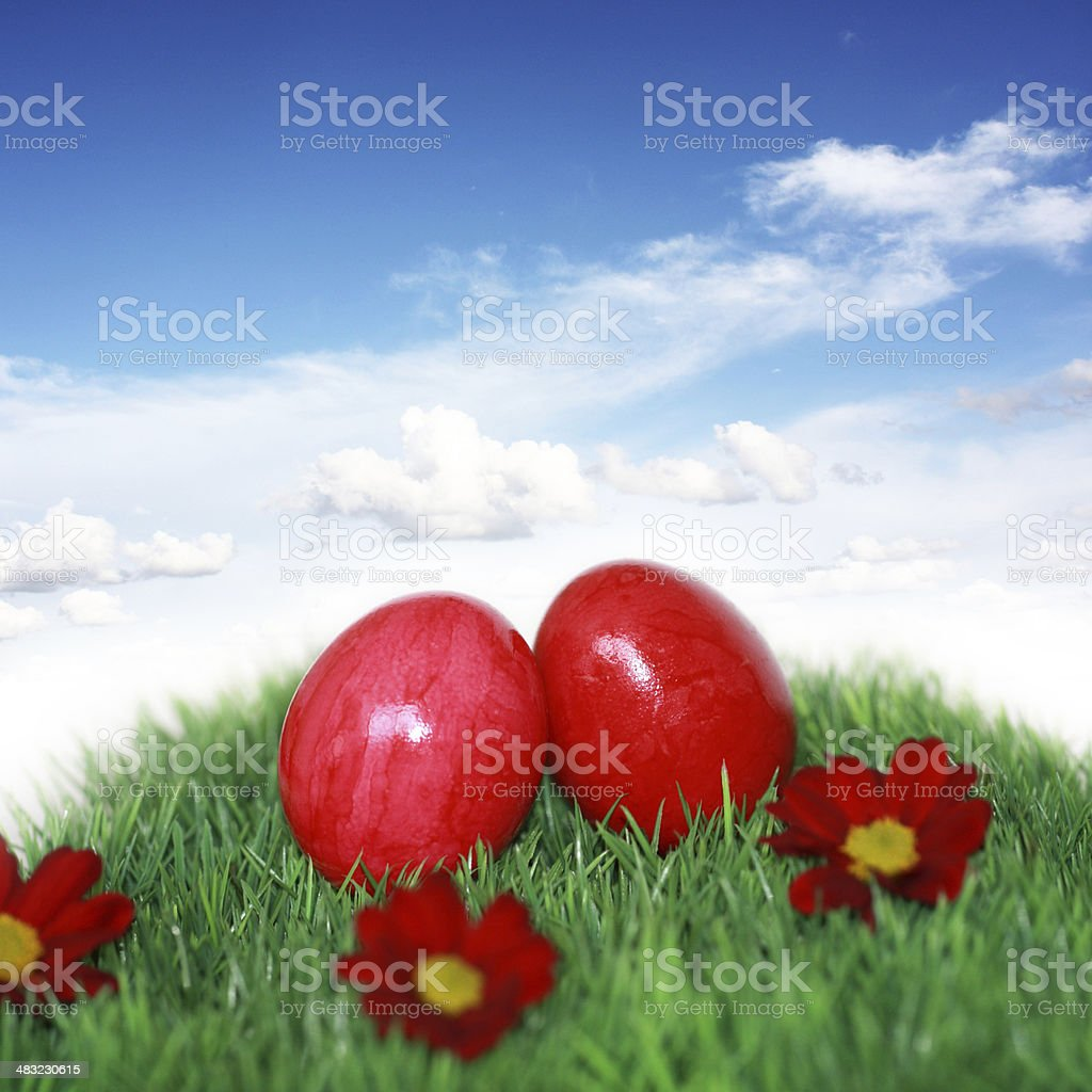 Deco for Eastertime stock photo