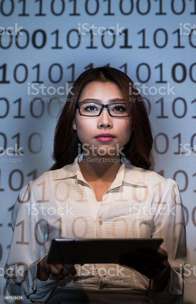 Decoding information stock photo