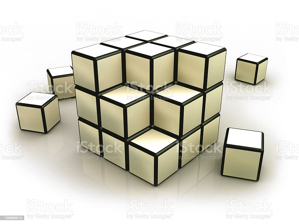 Deconstructed Cube royalty-free stock photo