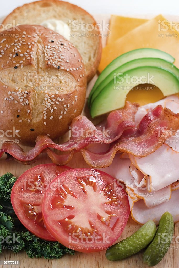 Deconstructed Sandwich royalty-free stock photo