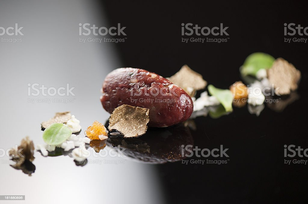 Deconstructed tartare stock photo