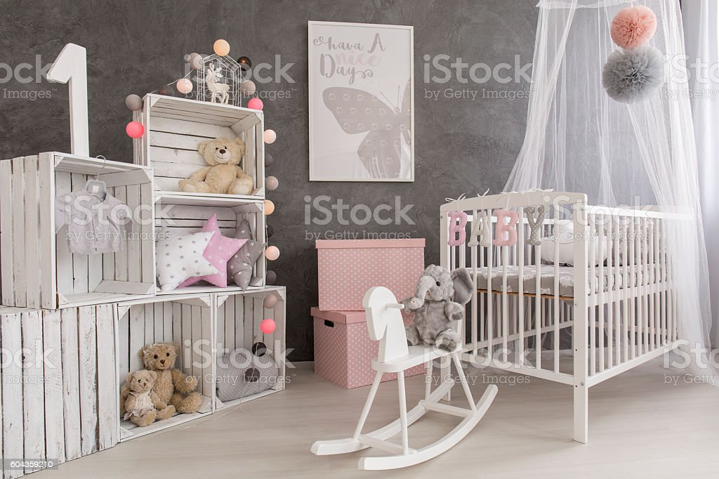 Decor couldn't be more cozy stock photo