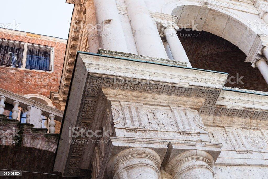 decor of loggia of Basilica Palladiana in Vicenza stock photo