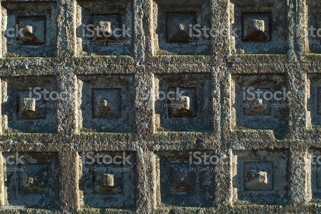 decoracion geometrica de iglesia stock photo
