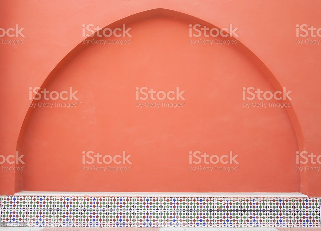decorated arch  in arab style stock photo