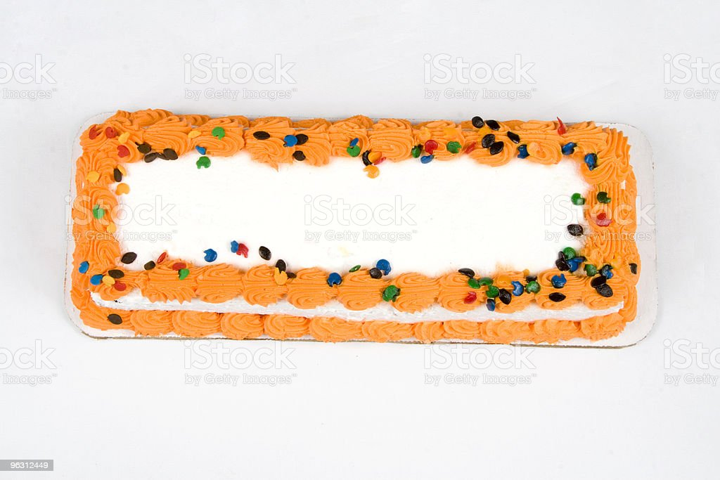 Decorated Cake from Above royalty-free stock photo