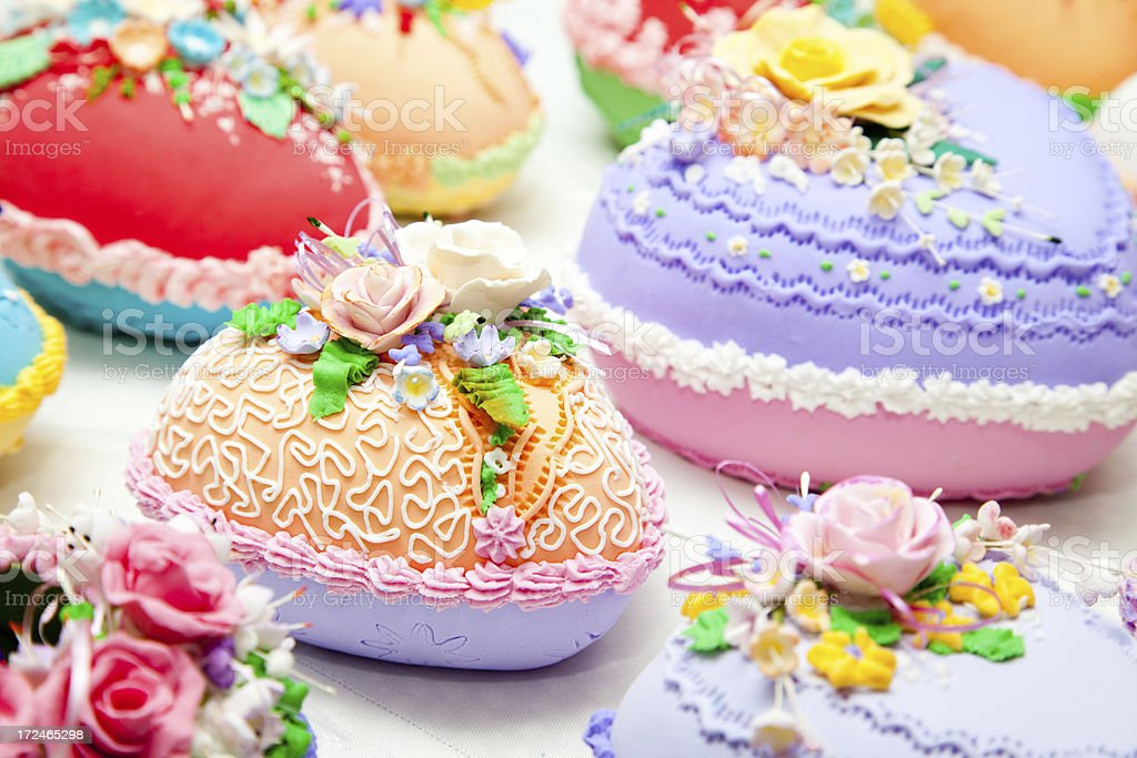 Decorated Candy Easter Eggs royalty-free stock photo