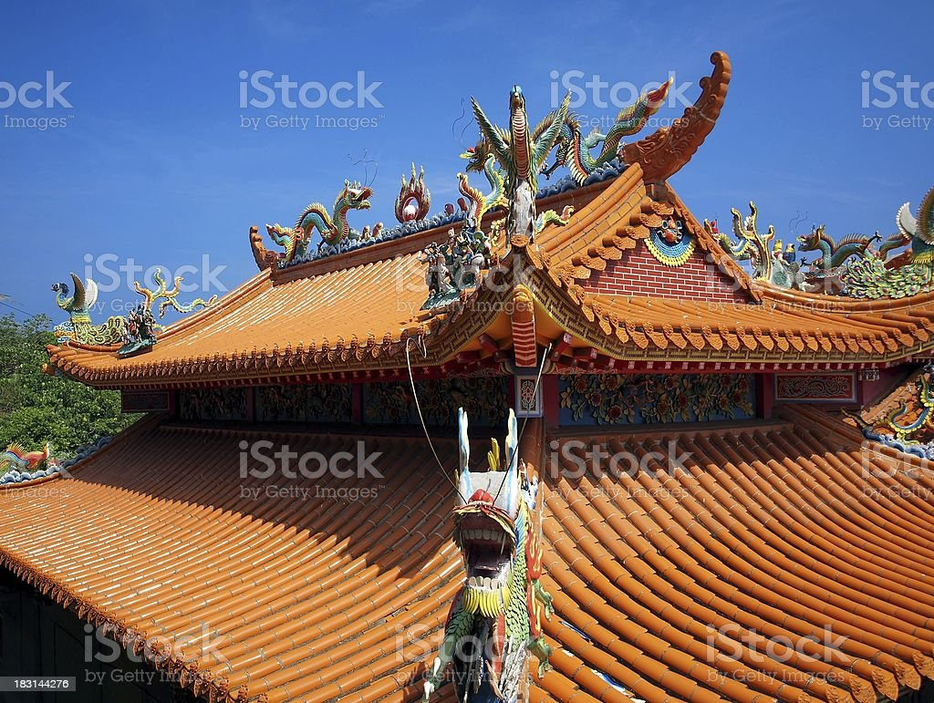 Decorated Chinese Temple Roof royalty-free stock photo