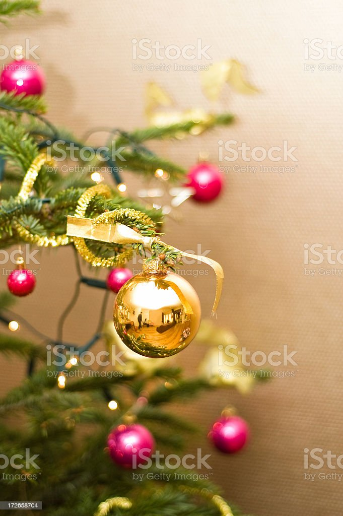 Decorated Christmas tree royalty-free stock photo
