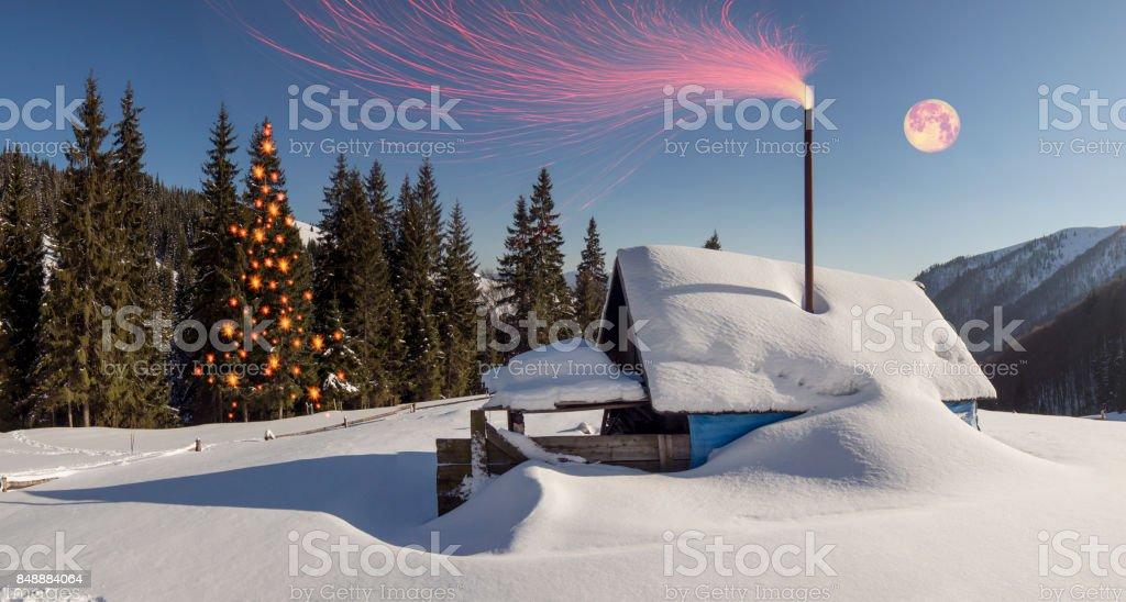 decorated Christmas tree. stock photo