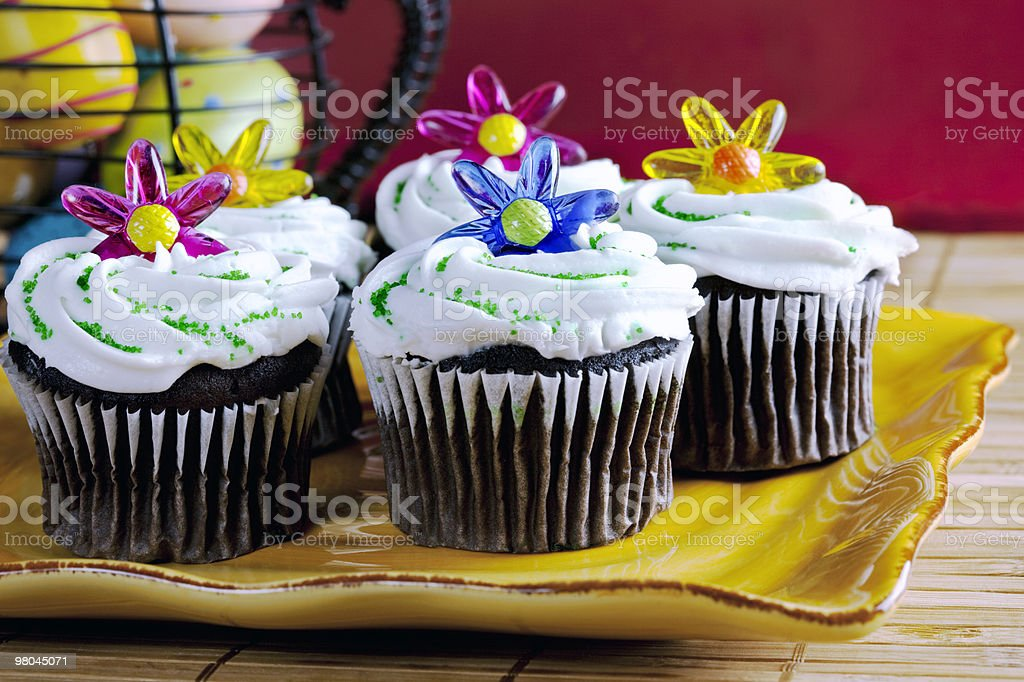 Decorated cupcakes royalty-free stock photo