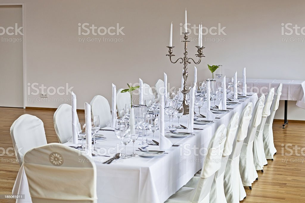Decorated dining table royalty-free stock photo