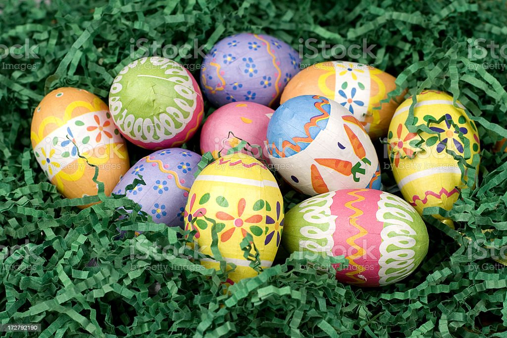 decorated easter eggs royalty-free stock photo