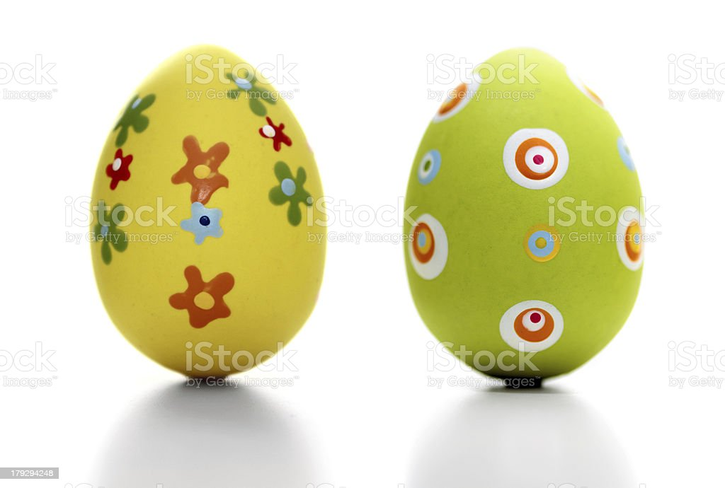 Decorated eggs royalty-free stock photo