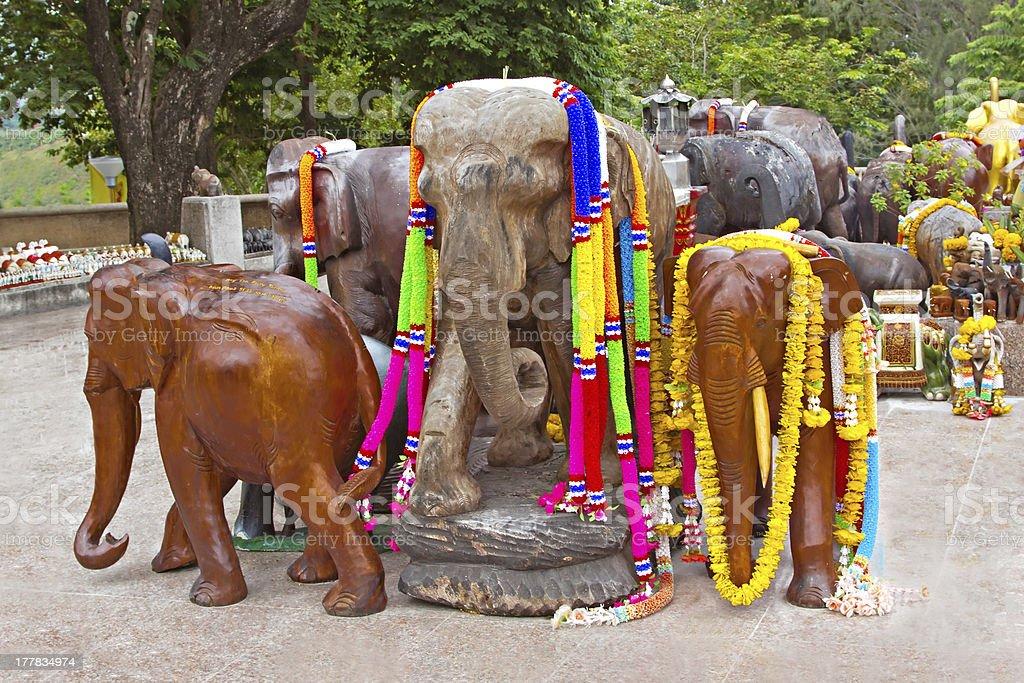 Decorated elephants royalty-free stock photo