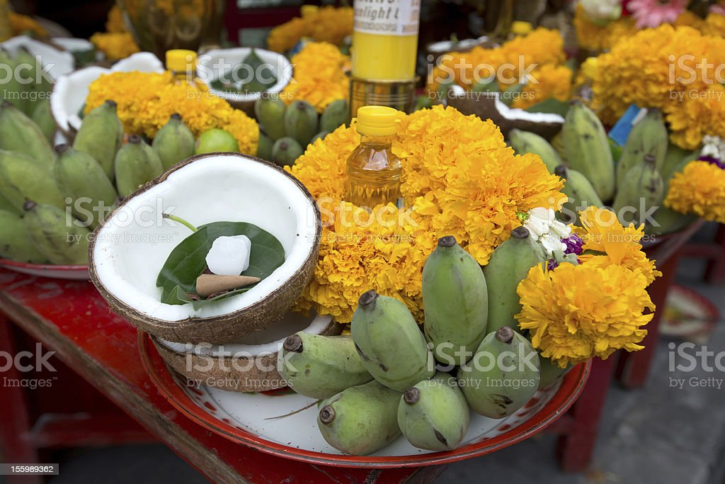 Decorated fruits for Navaratri celebration to worship. royalty-free stock photo