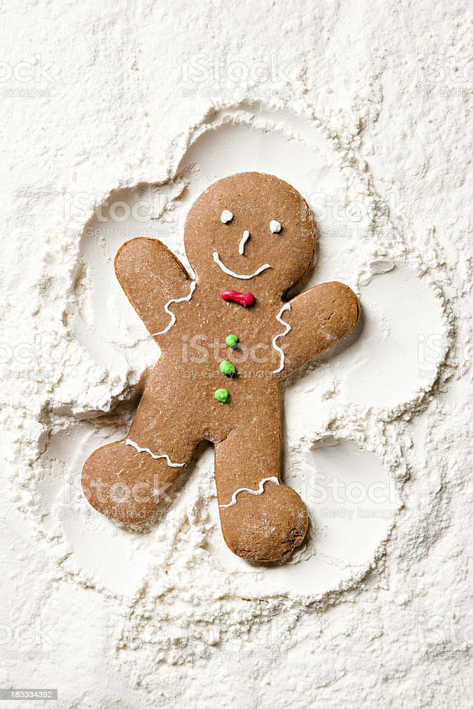 Decorated Ginger Snow Angel stock photo